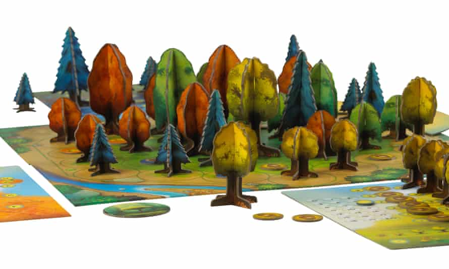 Photosynthesis turns your tabletop into a three-dimensional cardboard forest.