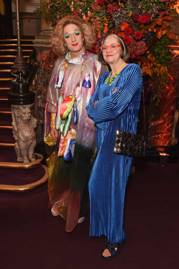 Philippa and Grayson Perry at the Evening Standard Theatre awards in 2019.
