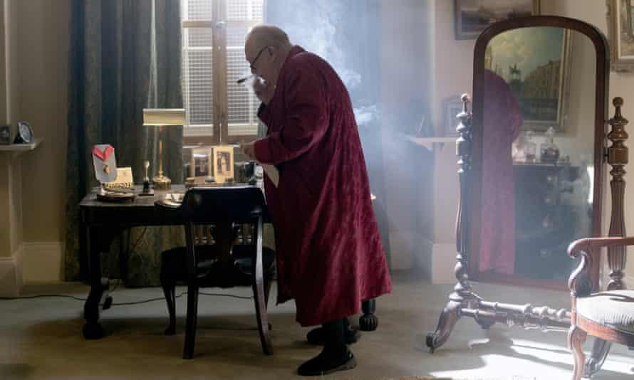 Brian Cox as Churchill, 2017.