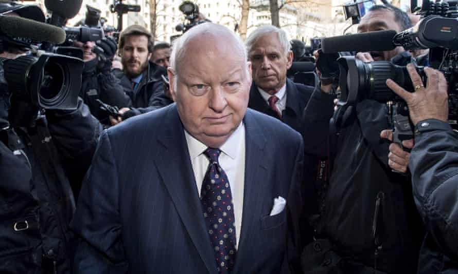 Mike Duffy arrives at court in Ottawa last April.