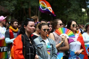 The Yes March for Marriage Equality on 21 October in Sydney.