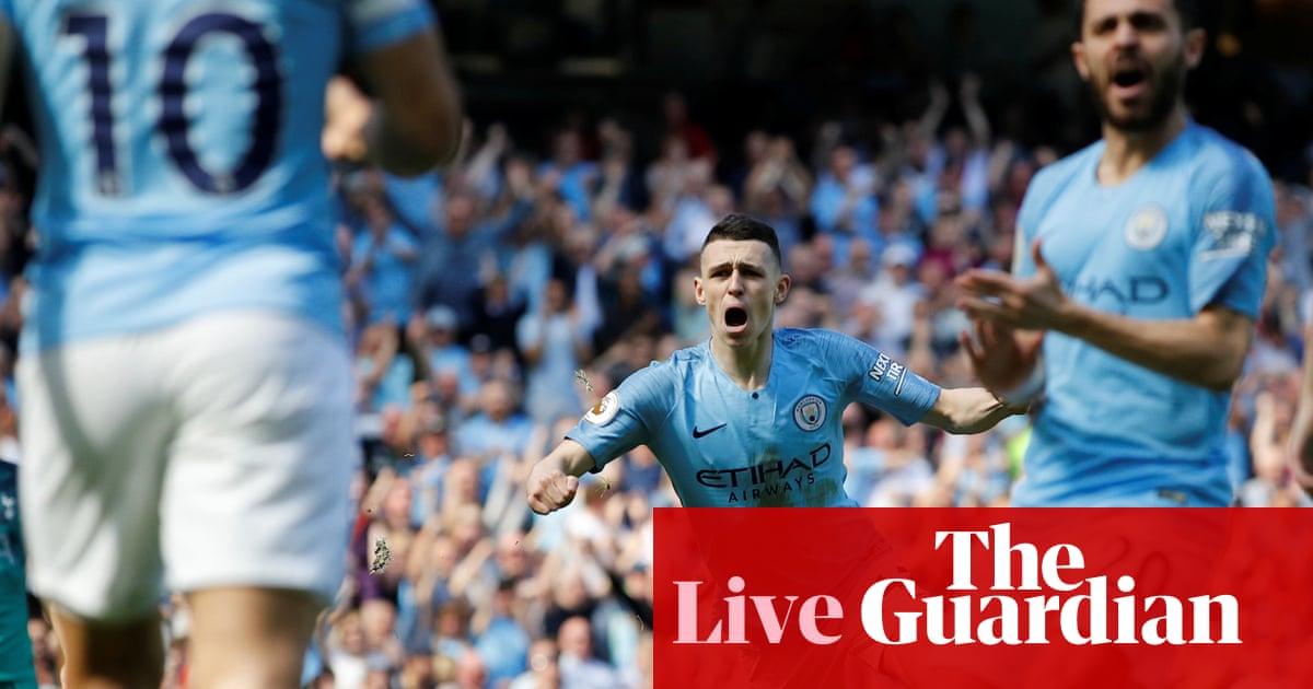 Manchester City 1 0 Tottenham Hotspur Premier League As It Happened Football The Guardian