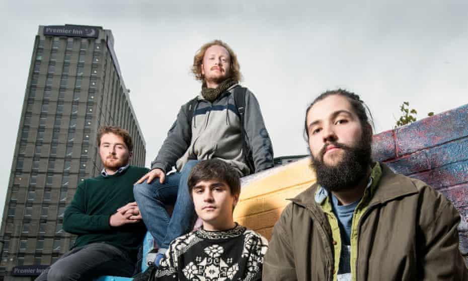 Bristol students Aidan Cassidy, Rich Ibbetson, Michael Keating and Wayland Goodburn