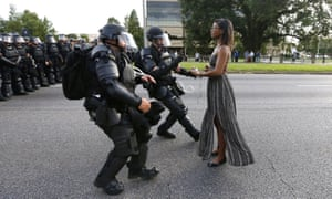 Ieshia Evans, the Pennsylvania nurse arrested at a protest in Baton Rouge in 2016. The image, called Taking a Stand in Baton Rouge, became a phenomenon.