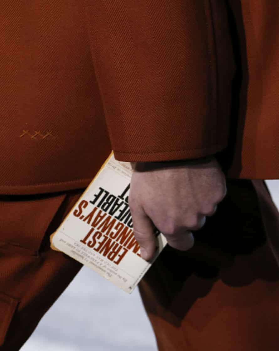 Bag detail at the Ermenegildo Zegna.