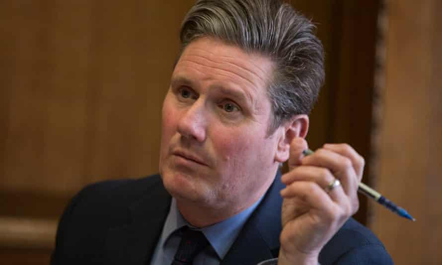 Labour MP and shadow Brexit secretary Keir Starmer. London