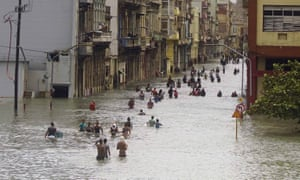 The flooded streets of Havana after Hurricane Irma passed through. At least 10 people have died in the storm.