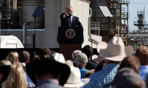 Trump delivers remarks on his proposed changes to the tax code during an event with energy workers at the Andeavor Refinery in Mandan, North Dakota.