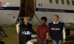 Italian police's 2016 handout picture shows Medhanie Tesfamariam Berhe, who was arrested and presented as Medhanie Yehdego Mered.