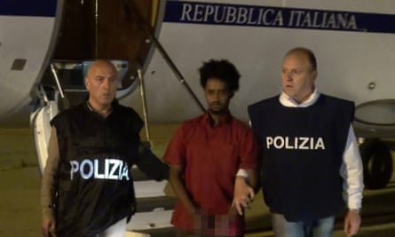 A picture released by the Italian police in June shows a man presented as Medhanie Yehdego Mered