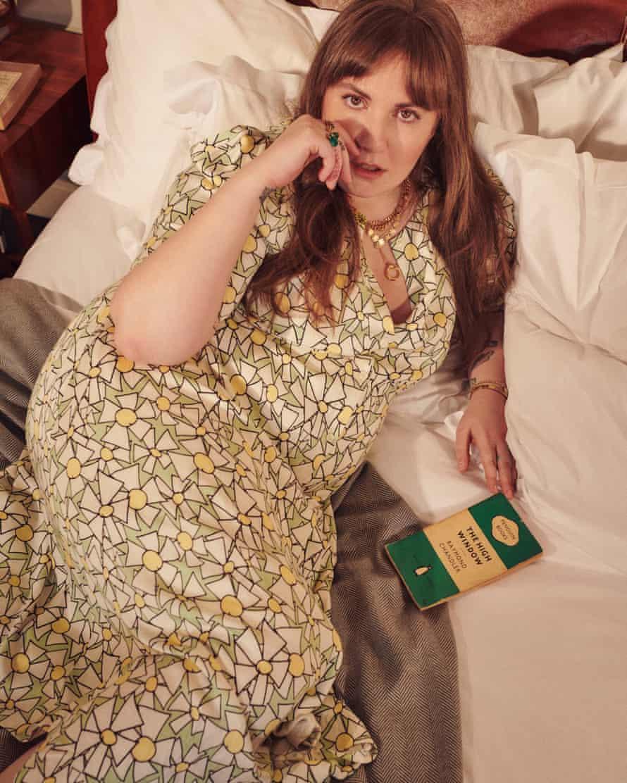 Lena Dunham models her collection.