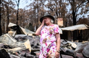 Mogo, AustraliaVanessa Williams stands on the remains of Mogo Pottery, the business she ran with her husband Peter Williams. Bushfires swept through Mogo on New Years Eve 2019 destroying several homes and businesses. Peter and Vanessa Williams lost both their home and their business which were adjacent to each other