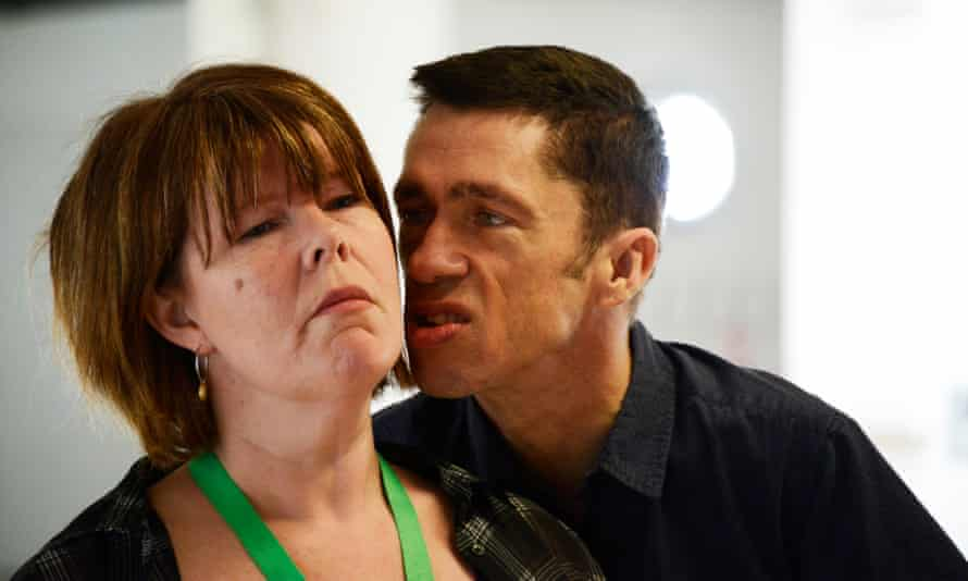 In rehearsal for Richard III at Hull Truck theatre, with Ruth Alexander-Rubin as Lady Anne.