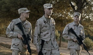Tye Sheridan, Jack Huston and Alden Ehrenreich in Gulf war drama The Yellow Birds.