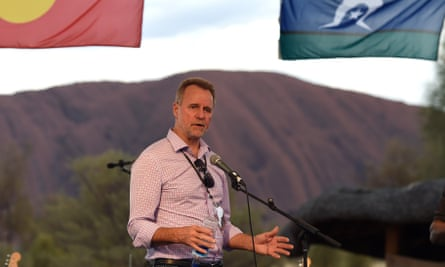 Nigel Scullion, the Indigenous affairs minister, at Uluru