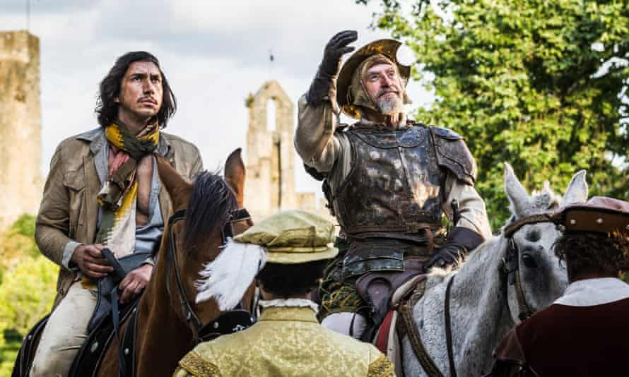 Adam Driver and Jonathan Pryce in The Man Who Killed Don Quixote.