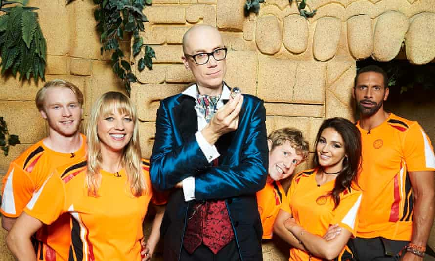 Stephen Merchant, centre, presented last year's celebrity special, which raised money for a cancer charity.