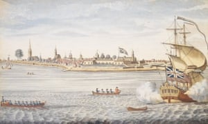 Small world … Fort George with the city of New York seen from the southwest (1764)