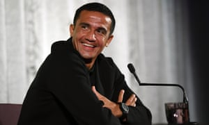 Tim Cahill holds farewell media conference