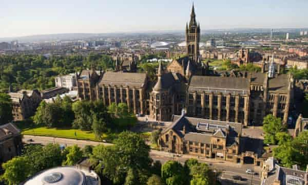 An aerial view of the University of Glasgow.