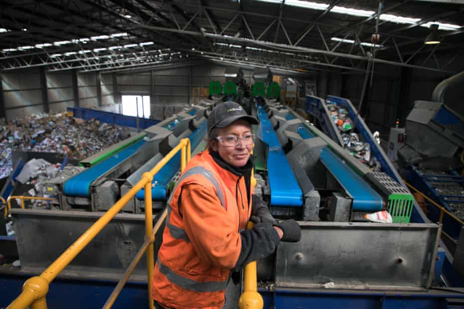 Hazel Waddell, one of the recycling site workers.