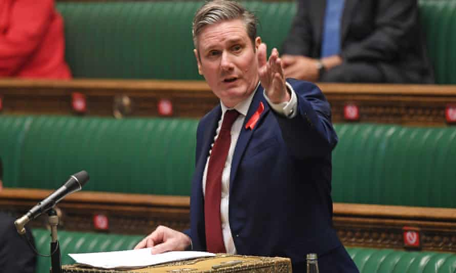 Labour leader Keir Starmer speaking during a debate on new Covid tiers in parliament earlier this month.