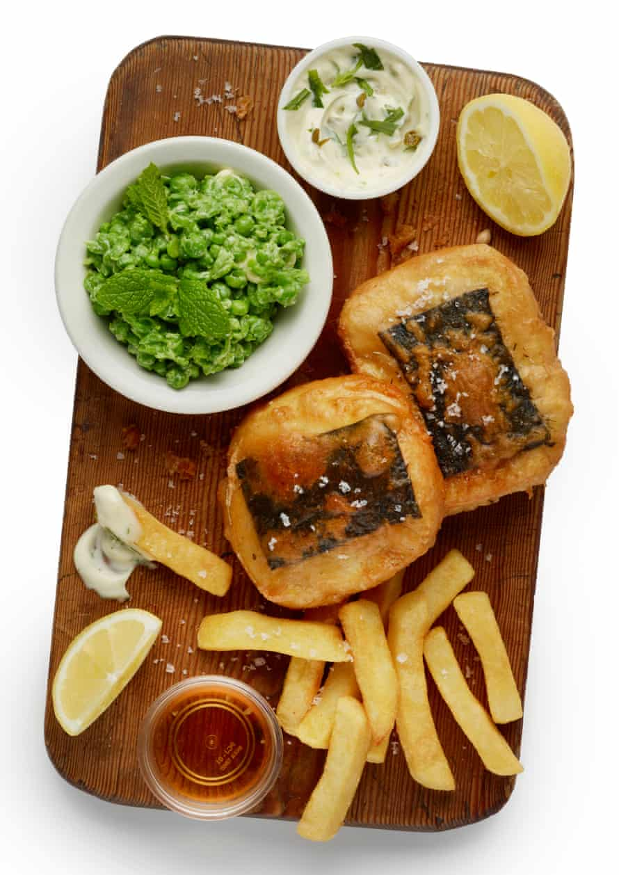 Felicity Cloake's perfect battered tofish: serve with chips.