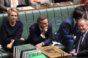 The Labor frontbench during question time