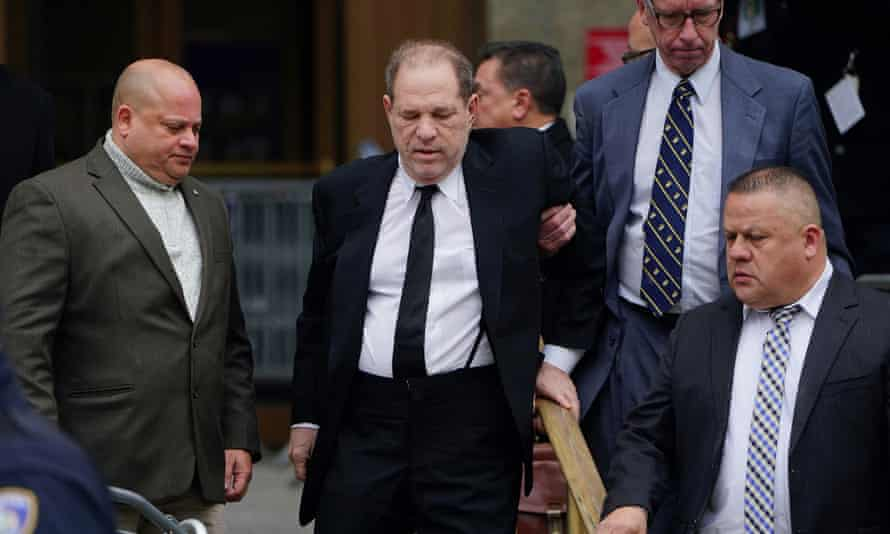 Weinstein came into the courtroom crouched over a walking frame and trailed by lawyers, minders and court officials.