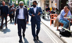 The mayor of London, Sadiq Khan, and deputy mayor for business, Rajesh Agrawal, visit London's West End.