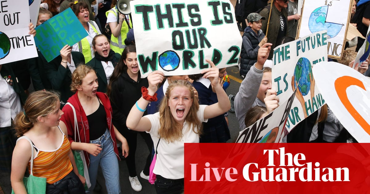 Climate strikes: students around the world walk out to demand change - live