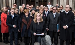 A solicitor representing relatives and survivors of the Tunisia attack speaks outside the court after the inquest verdict.