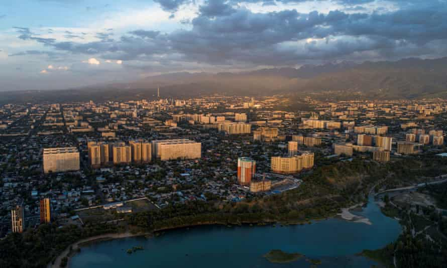 Almaty city, Kazakhstan. A prominent campaigner for the rights of Muslim minorities in China's Xinjiang region says he has been barred from entering Kazakhstan.