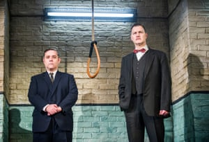 Andy Nyman (Syd) and David Morrissey (Harry) in Hangmen by Martin McDonagh at Wyndhams Theatre.