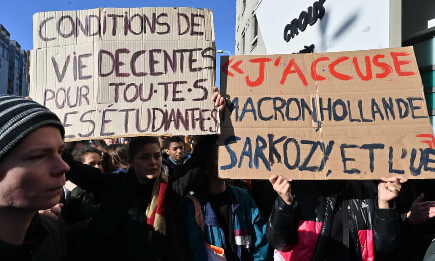 Unrest at French universities after student sets himself alight over debts