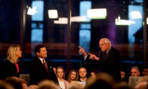 Sanders participates in a Fox News town hall in Pennsylvania