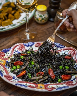 Black Mamba pasta served at Gloria.