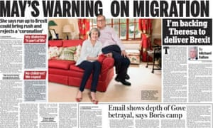 Daily Mail spread presents a homely image of the home secretary.