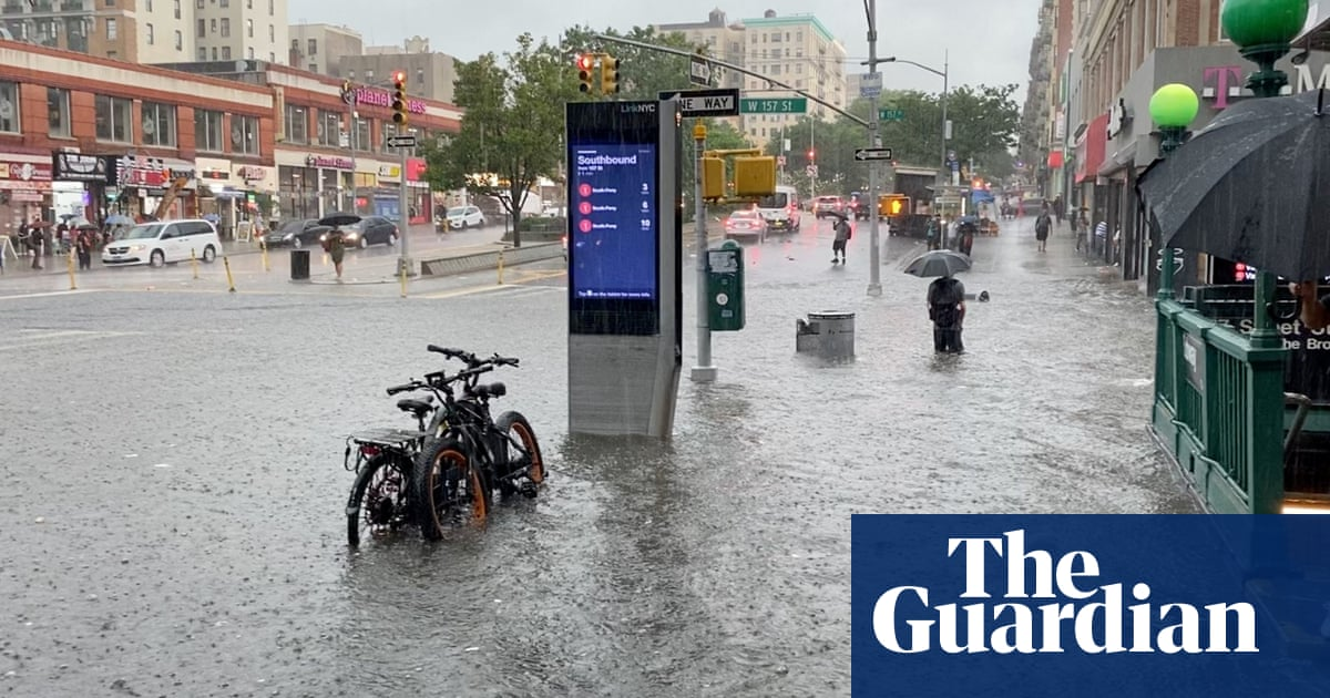 New York City warned 'climate change is here' as storm floods streets and subway