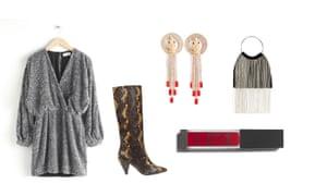 Dress, £135, stories.com Boots, £370, samsoe.com, etc