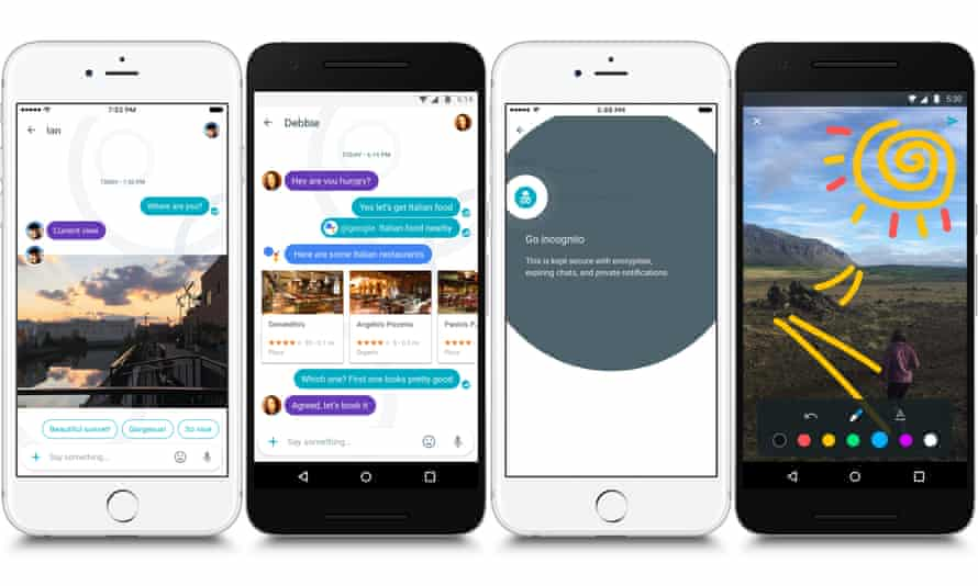 Allo's big new feature is Google's Assistant, represented as an @google chatbot.