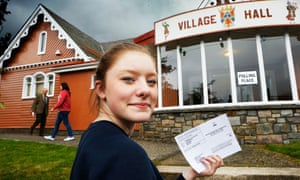 A 16-year-old voter in the Scottish independence referendum, 2014