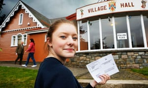 A 16-year-old voting in the Scottish independence referendum