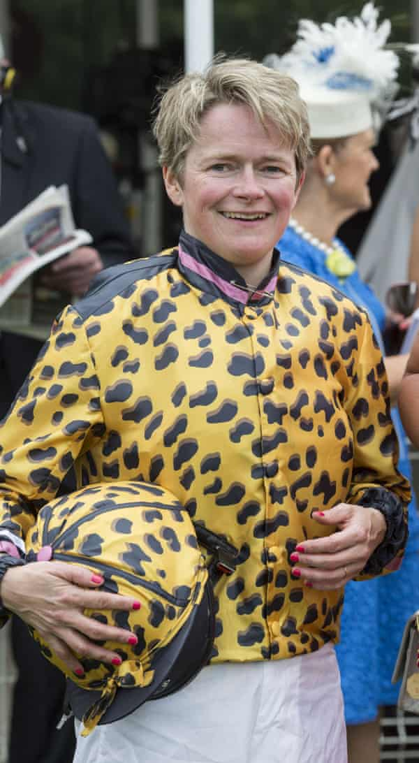Dido Harding after riding in the Magnolia Cup Ladies race. Glorious Goodwood Horse Racing, West Sussex, UK - 28 Jul 2016