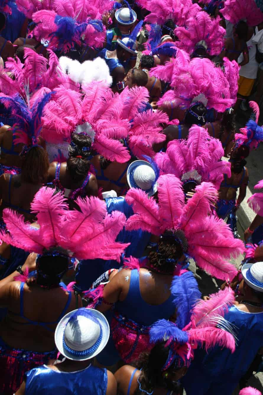 'The thrumming energy of the city' … dancers at the Trinidad carnival.