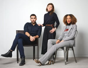 Teen Vogue's digital director Phillip Picardi, creative director Marie Suter and editor Elaine Welteroth.