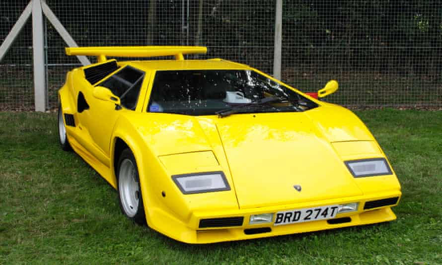 Lamborghini Countach at Shire Horse Car Rally 2010. Image shot 08/2010. Exact date unknown.<br>BRMCX2 Lamborghini Countach at Shire Horse Car Rally 2010. Image shot 08/2010. Exact date unknown.