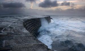 The Cobb at Lyme Regis, Dorset.