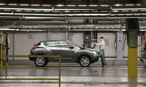 A car being made at the Nissan plant in Sunderland