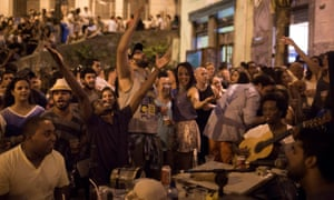 In Rio, music on the street is enough to get the party started.